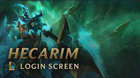 Hecarim, the Shadow of War - Login Screen