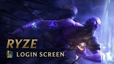 Ryze, the Rune Mage - Login Screen