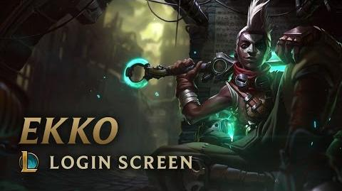 Ekko, the Boy Who Shattered Time - Login Screen