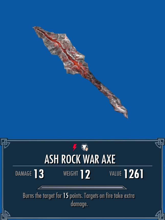 Ash Rock War Axe Legacy Of The Dragonborn Fandom