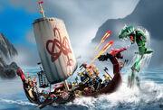 7018 Viking Ship challenges the Midgard Serpent