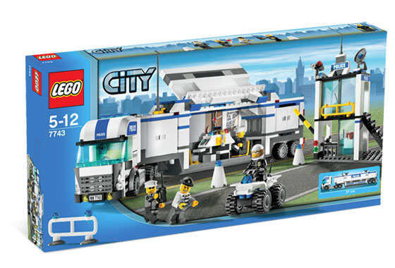7743 police command center brickipedia fandom powered by wikia - Lego city police camion ...