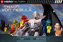 Mission Von Nebula Main Screen