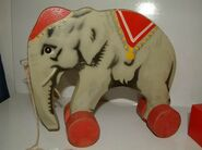 Wooden lego elephant4
