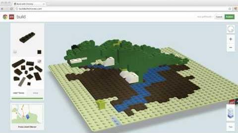 LEGO® T-Rex created in Build with Chrome
