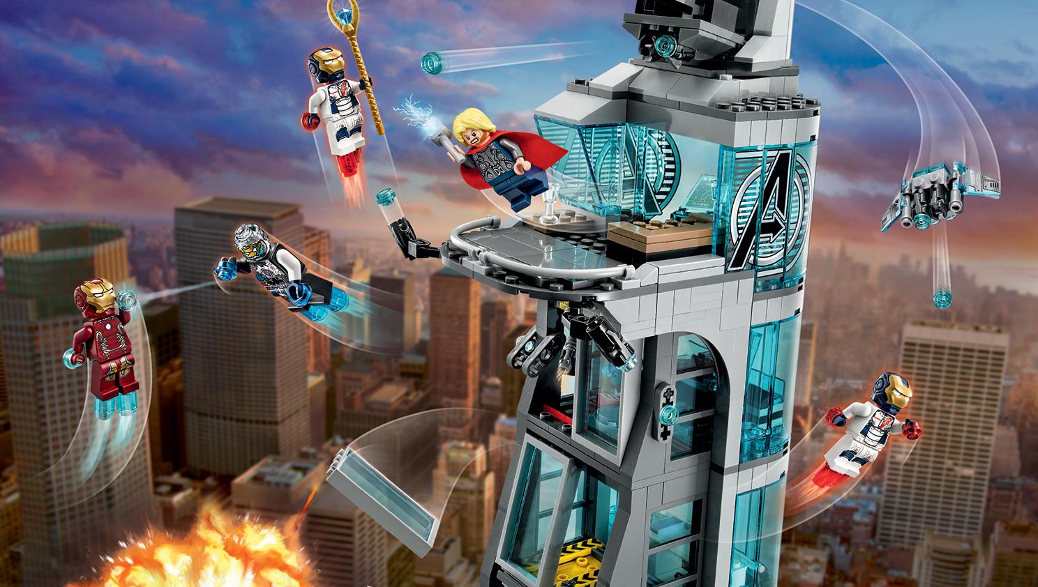 76038 l 39 attaque de la tour des avengers wiki lego for Tour avengers