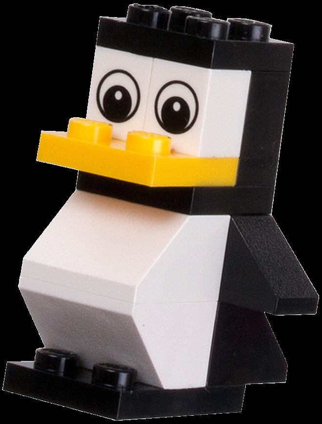 Как из лего сделать пингвина