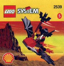 2539 Fright Knights Batwing Flyer