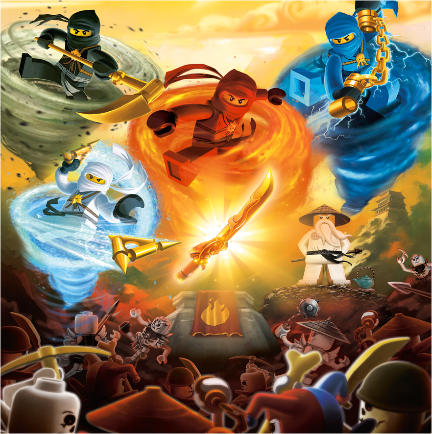 The four golden weapons brickipedia fandom powered by - Lego ninjago ninja ...