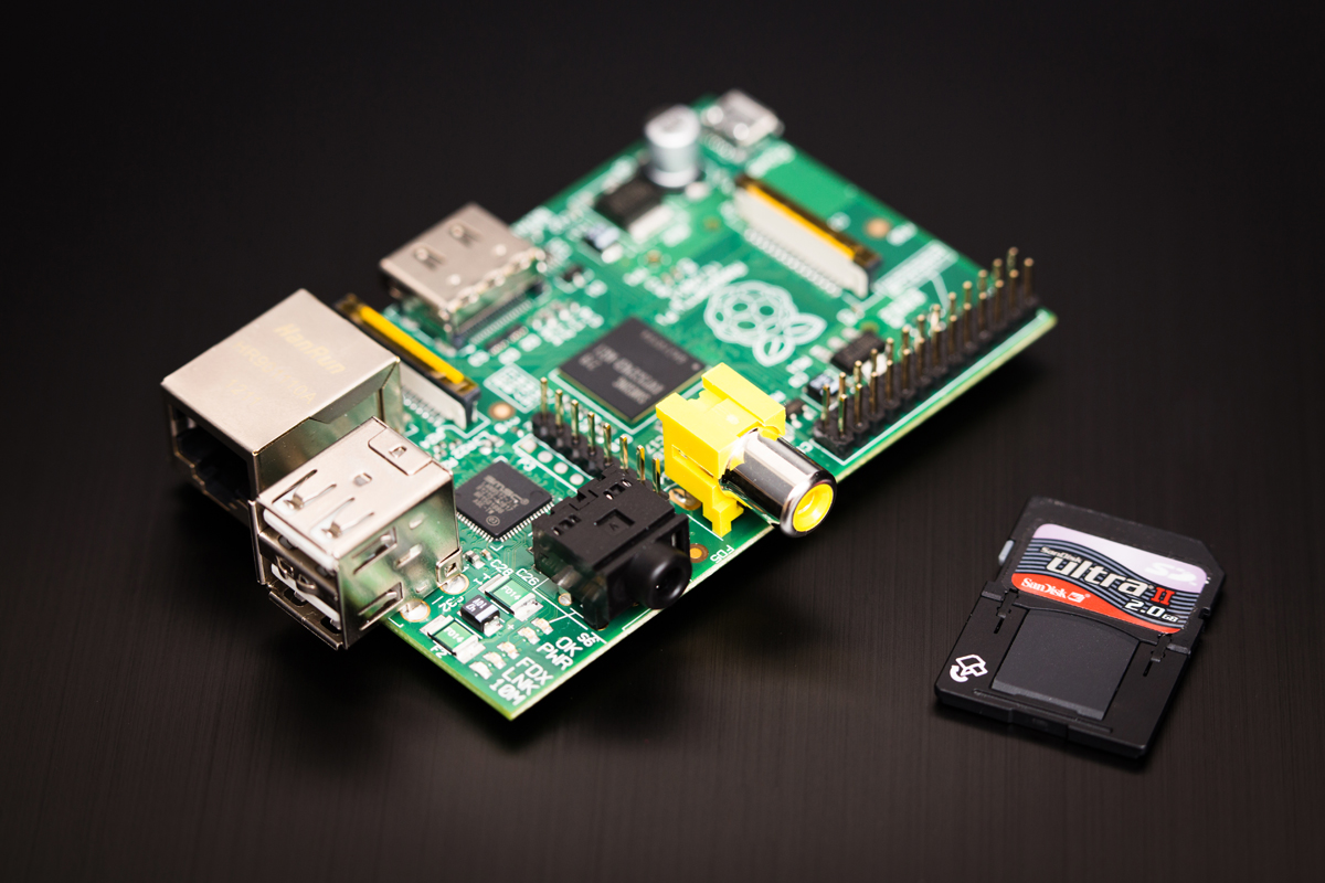 Raspberry Pi Model B (real)