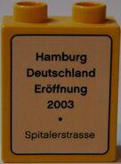 Legostein Eröffnung Hamburg Rückseite
