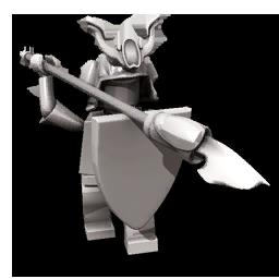 Dark ronin statue