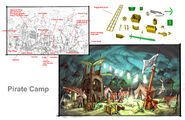 Gnarled-forest-pirate-camp layout-