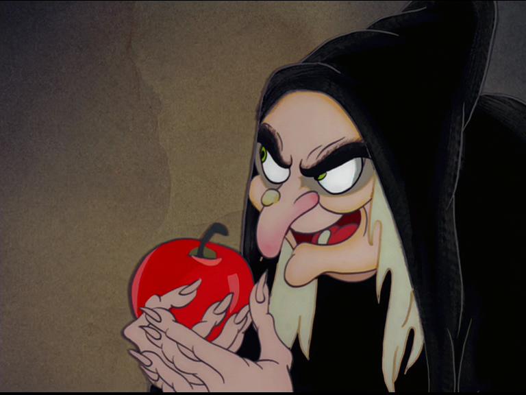 Attention aux pommes danger lisez c 39 est tr s important - La sorciere blanche neige ...