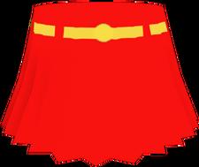 Supergirl Alpha Short Skirt Red