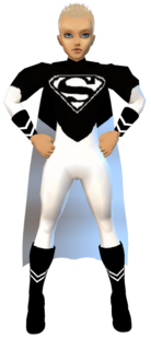 BlkWht Superman Outfit