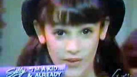 Young Lea Michele singing Castle On A Cloud