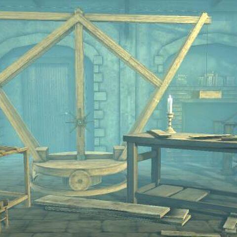 Da Vinci's Hideout background in LittleBigPlanet 2