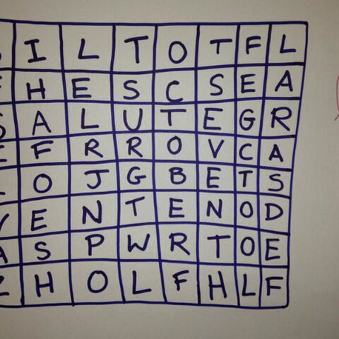 Album's name in this wordsearch by Jade
