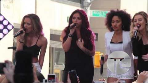 "Little Mix Performs ""Little Me"" At Rockefeller Plaza"