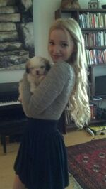 Dove Cameron with doggy