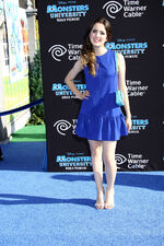 Laura at the Monsters University premiere