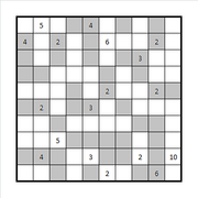 Checkered Fillomino Solution
