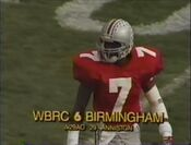 WBRC Channel 6 Station ID during Michigan-Ohio State game in 1990