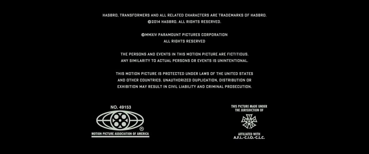 Mppa Credits: Transformers Age Of Extinction MPAA Credits.jpg