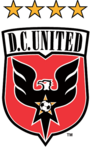 DC United logo (1998-2015, four stars)