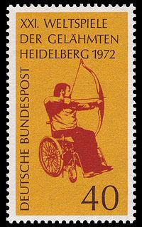 200px-DBP 1972 733 Weltspiele der Gelähmten