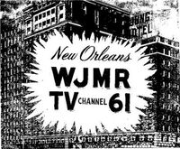 WJMR-TV Channel 61 test pattern 11-1-1953