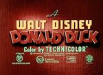 Donald Duck opening title card