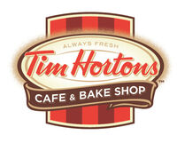 Tim hortons cafe and bake shop logo