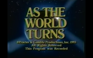 As The World Turns Close From February 2, 1993 - 2