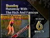 WBRC-TV's Channel 6's programming Runaway With The Rich and Famous from November 1990