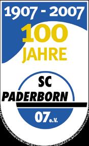 SC Paderborn 07 logo (100 Jahre)