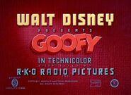 Goofy RKO opening title card
