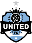K-W United FC logo (one silver star)
