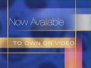 Walt Disney Studios Home Entertainment Buena Vista Now Available to Own on Video 1999 Logo