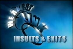 Weakest link insults & exits