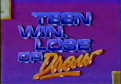 Teen Win, Lose or Draw '89 Promo
