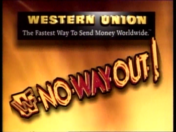 2468 - No Way Out Of Texas in your house logo wwf