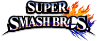 Super Smash Bros 4 merged logo, no subtitle