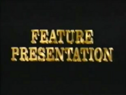 Feature Presentation Logo in Gold Letters