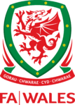 Football Association of Wales logo (introduced 2011, with wordmark)
