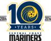 Central Coast Mariners logo (10 Years)