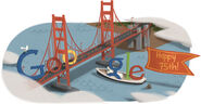 Google 75th Anniversary of the Golden Gate Bridge