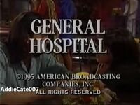 General Hospital Video Close From April 6, 1995 - 3