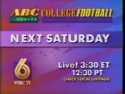 WBRC-TV Channel 6 ABC College Football Double Action 1992